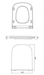 CERSANIT - WC sedátko Caspia SLIM DUR Antib SC EO s jedním tlačítkem (K98-0145), fotografie 4/3