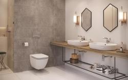 CERSANIT - WC sedátko Caspia SLIM DUR Antib SC EO s jedním tlačítkem (K98-0145), fotografie 2/3