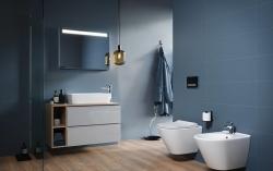 CERSANIT - WC sedátko CITY OVAL SLIM antib. OFF EASY jedno tlačítko  (K98-0146), fotografie 2/5