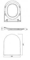 CERSANIT - WC sedátko CITY OVAL SLIM antib. OFF EASY jedno tlačítko  (K98-0146), fotografie 6/5