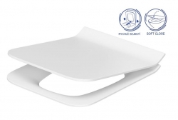 WC sedátko Como SLIM DUROPLAST Antibe SOFT CLOSE OFF EASY jedno tlačítko (K98-0143) - CERSANIT