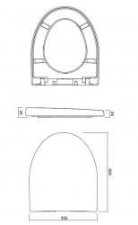 CERSANIT - SEDÁTKO PARVA DUROPLAST SOFT-CLOSE (K98-0122), fotografie 2/2