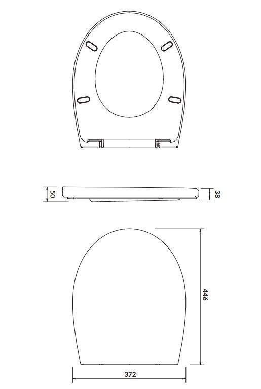 CERSANIT - SEDÁTKO DELFI POLYPROPYLEN ANTIBACTERIAL (K98-0039)