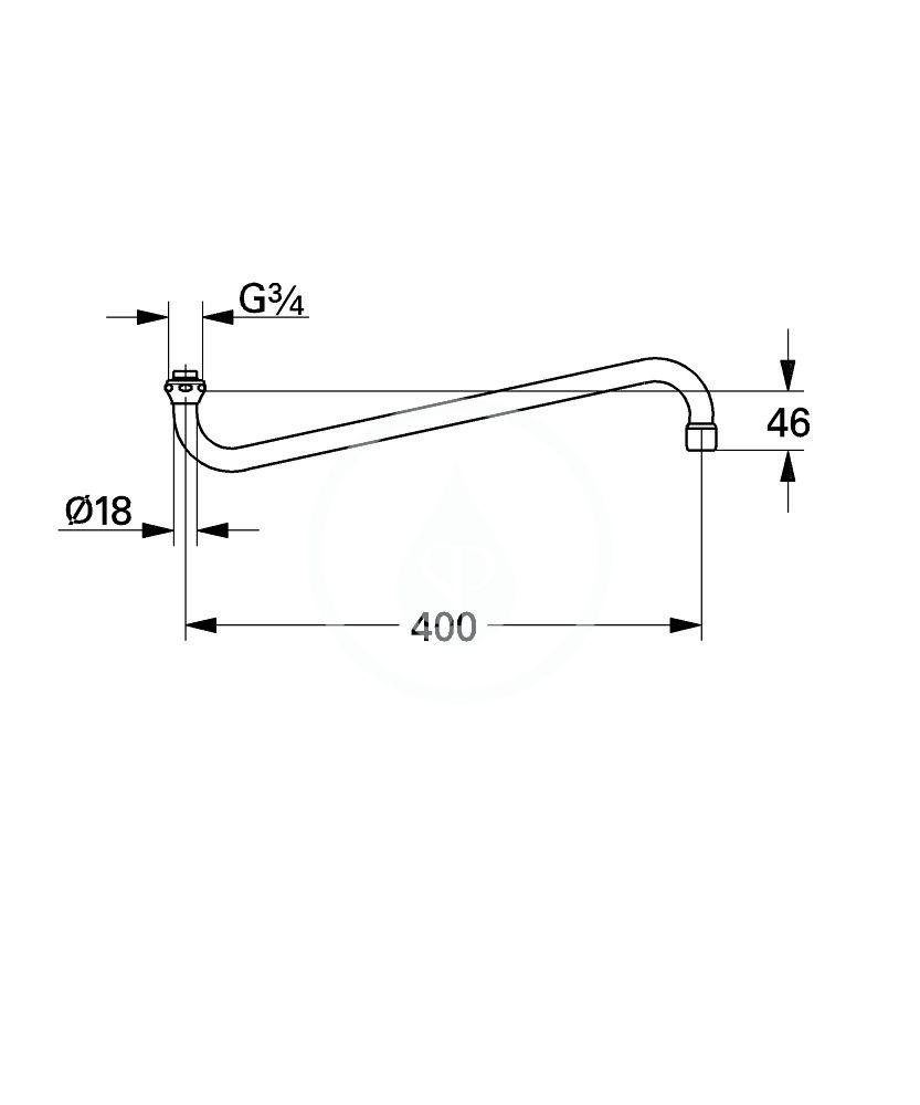GROHE - Příslušenství Výtoková trubice, chrom (13108000)