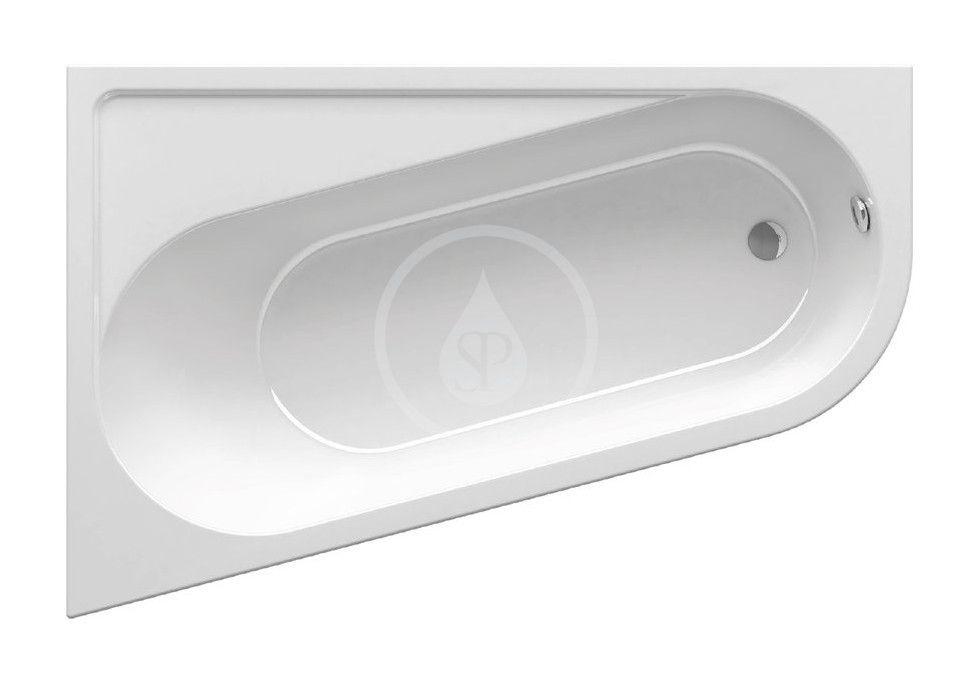 RAVAK Chrome Vana asymetrická 1600x1050 mm, levá, bílá CA51000000