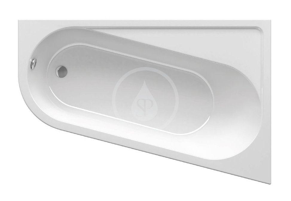 RAVAK Chrome Vana asymetrická 1600x1050 mm, pravá, bílá CA61000000