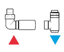 TERMA Tělesová sada VISION bílá matná levá termostatická úhlová pro CU i ALPEX TGETVISILKS96 (TGETVISIL-KS96), fotografie 6/3