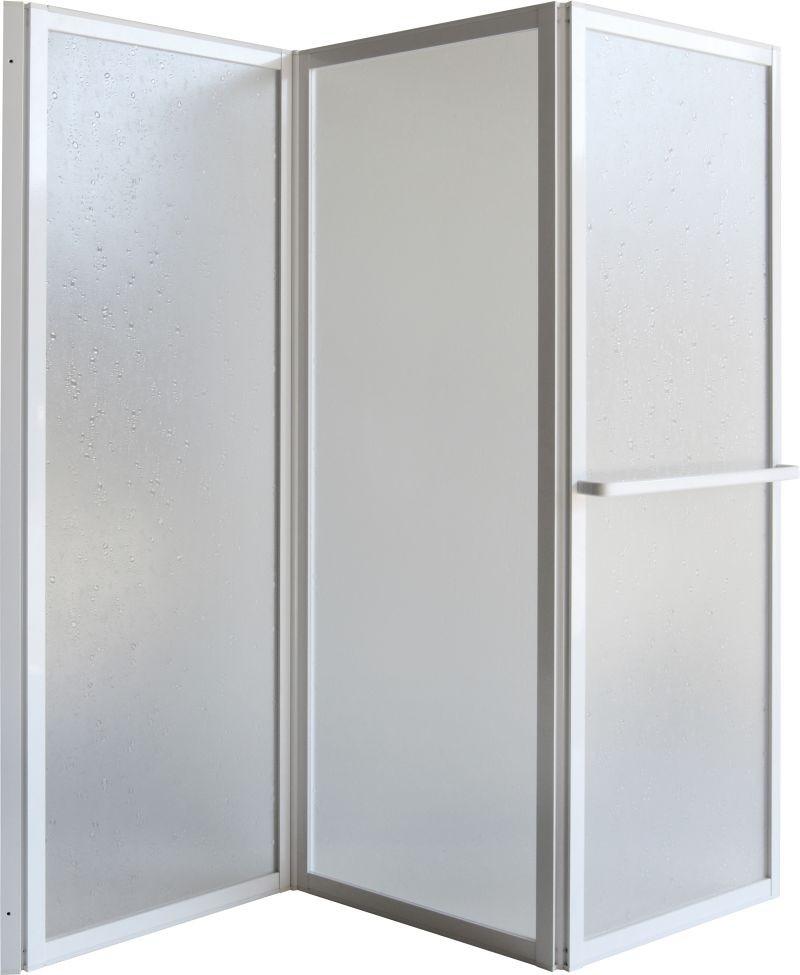 HOPA Vanová zástěna KARINA Barva rámu zástěny Hliník bílý, Provedení Univerzální, Šíře 95 cm, Výplň