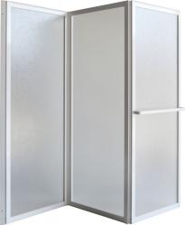 Vanová zástěna KARINA - Barva rámu zástěny - Hliník bílý, Provedení - Univerzální, Šíře - 140 cm, Výplň - Polystyrol 2,2 mm (acrilico) (OLBVZ3) - HOPA
