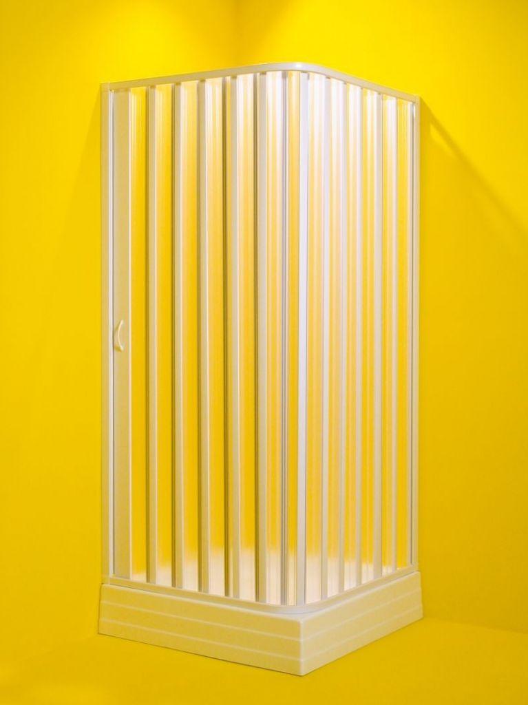HOPA Čtvercový sprchový kout VENERE Barva rámu zástěny Plast bílý, Rozměr A 80 cm, Rozměr B 80 cm, S