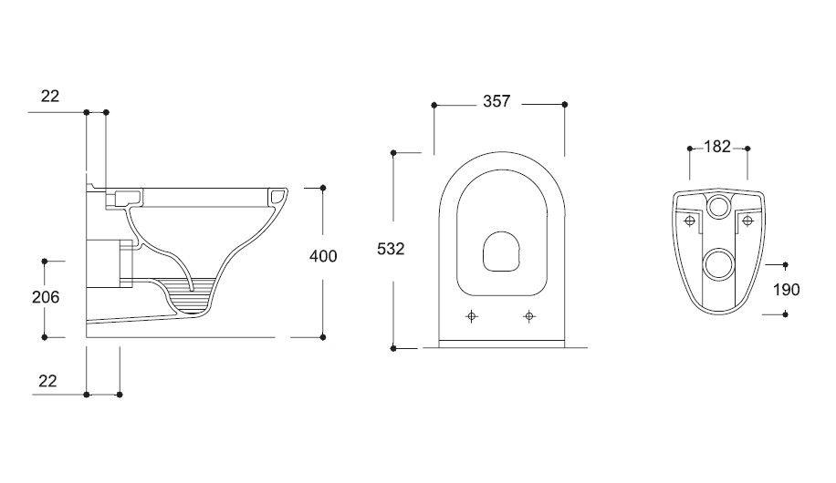 HOPA - Závěsné WC COMPACT - WC sedátko - Bez sedátka (OLKGKO04DAK00)