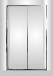 Sprchové dveře do niky SMART - SELVA - Barva rámu zástěny - Hliník chrom, Provedení - Univerzální, Šíře - 100 cm, Výplň - Čiré bezpečnostní sklo - 4 / 6 mm (OLBSEL10CCBV) - HOPA