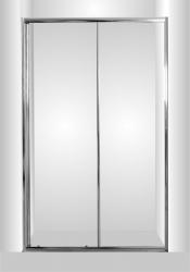Sprchové dveře do niky SMART - SELVA - Barva rámu zástěny - Hliník chrom, Provedení - Univerzální, Šíře - 120 cm, Výplň - Grape bezpečnostní sklo - 4 / 6 mm (OLBSEL12CGBV) - HOPA
