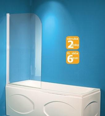 HOPA Vanová zástěna LUCCA Barva rámu zástěny Hliník bílý, Provedení Univerzální, Šíře 75 cm, Výplň Č