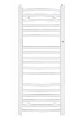 HOPA - Koupelnový radiátor OMEGA R - Rozměr radiátoru HL - 700 × 1173 mm, výkon 728 W, Připojení radiátoru - Spodní připojení, Radiátory - Barevné provedení HL - Bílá (RADOME701235)