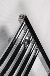 HOPA - Koupelnový radiátor OMEGA R - Rozměr radiátoru HL - 700 × 1746 mm, výkon 1069 W, Připojení radiátoru - Spodní připojení, Radiátory - Barevné provedení HL - Bílá (RADOME701735), fotografie 16/9