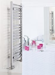 HOPA - Koupelnový radiátor OMEGA R - Rozměr radiátoru HL - 800 × 915 mm, výkon 652 W, Připojení radiátoru - Spodní připojení, Radiátory - Barevné provedení HL - Bílá (RADOME809035), fotografie 2/9