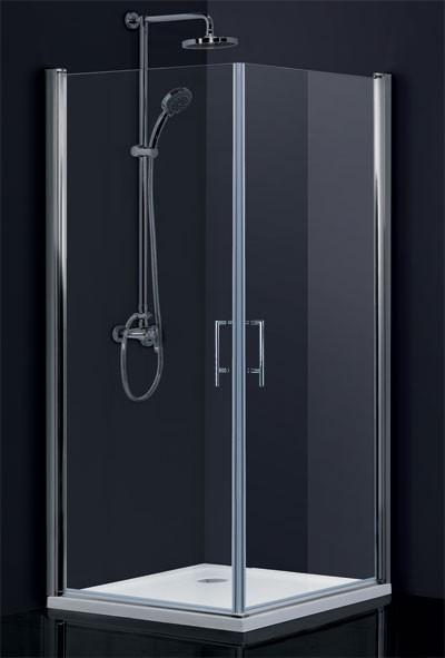HOPA Obdélníkový a čtvercový sprchový kout SINTRA Barva rámu zástěny Hliník chrom, Rozměr A 80 cm, Rozměr B 80 cm, Směr zavírání Univerzální Levé / Pravé, Výplň Čiré bezpečnostní sklo 6 mm BCMADE280CC+BCMADE280CC