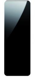 HOPA - Koupelnový radiátor se zrcadlem INDIVI NEW - Rozměr radiátoru HL - 656 × 1806 x 131 mm, výkon 1694 W, Barevnice - C31 černá matná, Povrch - Sklo černé L05 (RADINDNX70180E31L05)