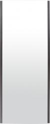 HOPA - Koupelnový radiátor se zrcadlem INDIVI - Rozměr radiátoru HL - 656 × 1806 x 131 mm, výkon 1694 W, Barevnice - C31 černá matná, Povrch - Sklo černé L05 (RADINDX70180E31L05)