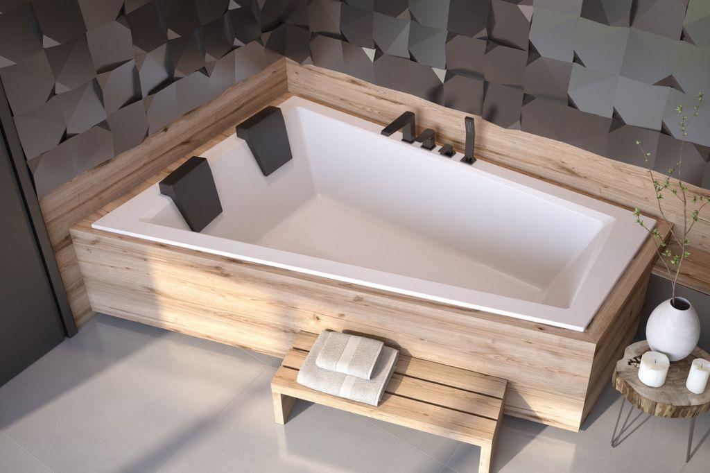 HOPA Asymetrická vana INTIMA DUO SLIM Nožičky k vaně Bez nožiček, Rozměr vany 180 × 125 cm, Způsob p