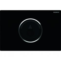 GEBERIT - Sigma10 Elektronické ovládací tlačítko pro 2 množství splachování, síťové napájení, černá/chrom (115.907.KM.1)