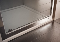 HOPA - Sprchové dveře VESTA - Výška - 190 cm, Barva rámu zástěny - Hliník bílý, Provedení - Univerzální, Výplň - Fume bezpečnostní sklo - 6 mm, Šíře - 65 cm (BL750BF), fotografie 4/8