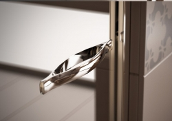 HOPA - Sprchové dveře VESTA - Výška - 190 cm, Barva rámu zástěny - Hliník bílý, Provedení - Univerzální, Výplň - Fume bezpečnostní sklo - 6 mm, Šíře - 65 cm (BL750BF), fotografie 6/8