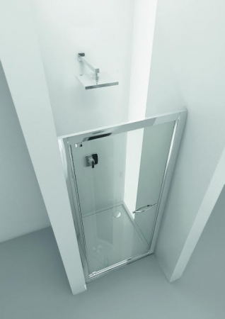 HOPA - Sprchové dveře VESTA - Výška - 190 cm, Barva rámu zástěny - Leštěný hliník, Provedení - Univerzální, Výplň - Čiré bezpečnostní sklo - 6 mm, Šíře - 65 cm (BL750CC)