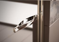HOPA - Sprchové dveře VESTA - Výška - 190 cm, Barva rámu zástěny - Leštěný hliník, Provedení - Univerzální, Výplň - Čiré bezpečnostní sklo - 6 mm, Šíře - 65 cm (BL750CC), fotografie 6/8