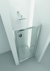 HOPA - Sprchové dveře VESTA - Výška - 190 cm, Barva rámu zástěny - Hliník bílý, Provedení - Univerzální, Výplň - Čiré bezpečnostní sklo - 6 mm, Šíře - 80 cm (BL752BC)