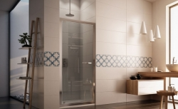 HOPA - Sprchové dveře VESTA - Výška - 190 cm, Barva rámu zástěny - Hliník bílý, Provedení - Univerzální, Výplň - Čiré bezpečnostní sklo - 6 mm, Šíře - 80 cm (BL752BC), fotografie 2/8