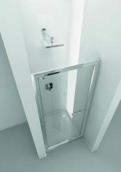 HOPA - Sprchové dveře VESTA - Výška - 190 cm, Barva rámu zástěny - Hliník bílý, Provedení - Univerzální, Výplň - Fume bezpečnostní sklo - 6 mm, Šíře - 80 cm (BL752BF)