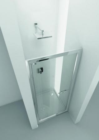 HOPA - Sprchové dveře VESTA - Výška - 190 cm, Barva rámu zástěny - Hliník bílý, Provedení - Univerzální, Výplň - Fume bezpečnostní sklo - 6 mm, Šíře - 90 cm (BL753BF)