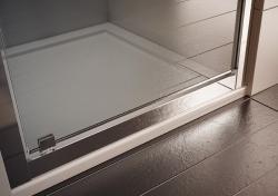 HOPA - Sprchové dveře VESTA - Výška - 190 cm, Barva rámu zástěny - Hliník bílý, Provedení - Univerzální, Výplň - Fume bezpečnostní sklo - 6 mm, Šíře - 90 cm (BL753BF), fotografie 4/8
