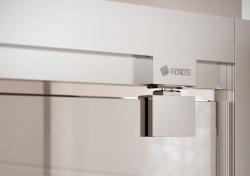 HOPA - Sprchové dveře VESTA - Výška - 190 cm, Barva rámu zástěny - Hliník bílý, Provedení - Univerzální, Výplň - Fume bezpečnostní sklo - 6 mm, Šíře - 90 cm (BL753BF), fotografie 8/8