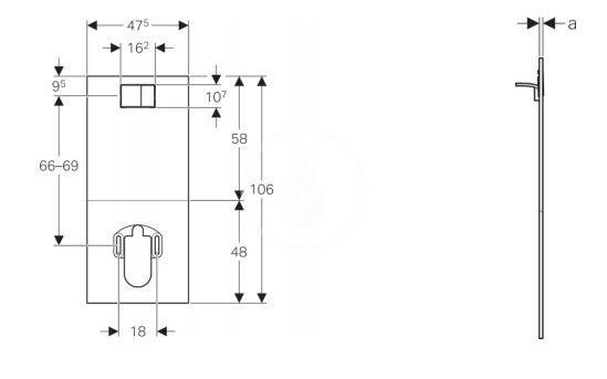 GEBERIT - AquaClean Krycí deska se zabudovaným ovládáním pro kompletní WC, sklo/černá (115.328.SJ.1)