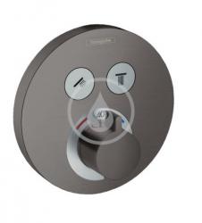 HANSGROHE - Shower Select Termostatická baterie pod omítku pro 2 spotřebiče, kartáčovaný černý chrom (15743340)