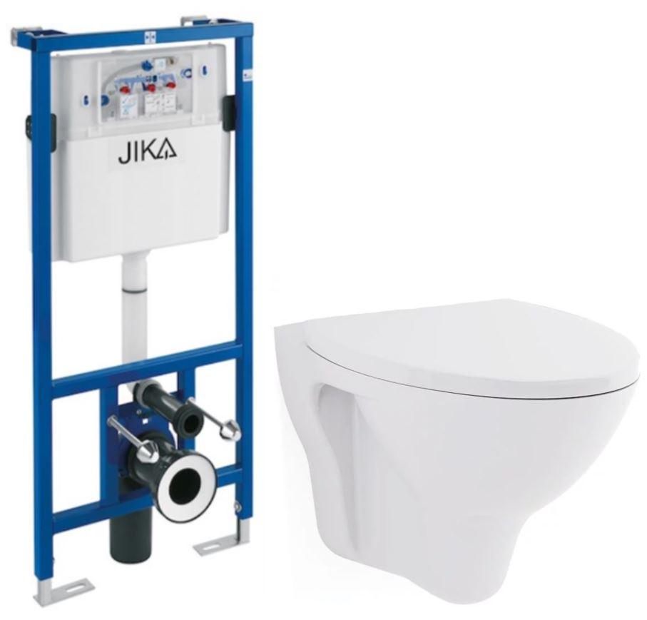 předstěnový instalační systém bez tlačítka + WC CERSANIT ARES + SEDÁTKO H895652 X AR1