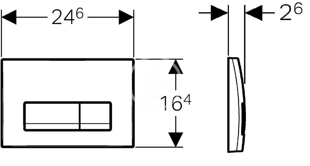 GEBERIT - Delta Ovládací tlačítko Delta51, alpská bílá (115.105.11.1)