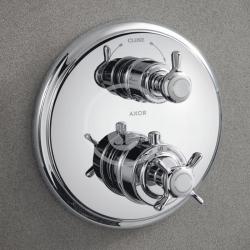 AXOR - Montreux Termostatická baterie pod omítku s uzavíracím a přepínacím ventilem, chrom (16820000), fotografie 6/3