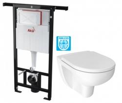 ALCAPLAST  Jádromodul - předstěnový instalační systém bez tlačítka + WC JIKA LYRA PLUS RIMLESS + SEDÁTKO DURAPLAST (AM102/1120 X LY1)