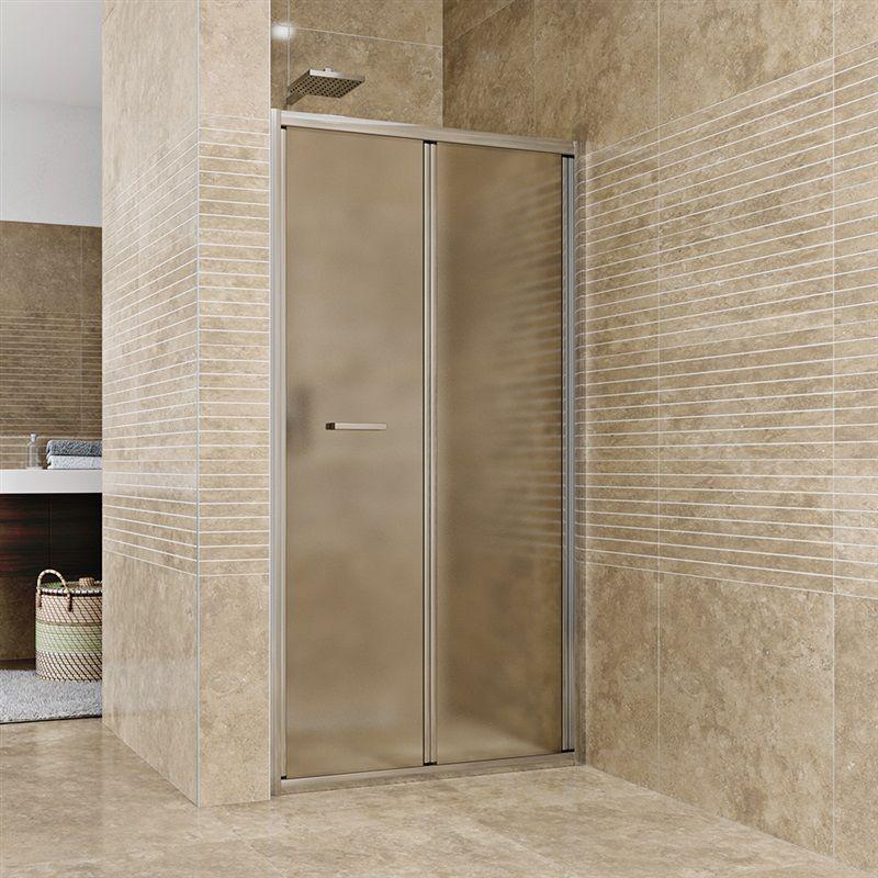 MEREO Sprchové dveře zalamovací, Mistica, 100x190 cm, chrom ALU, sklo Chinchilla CK80134H