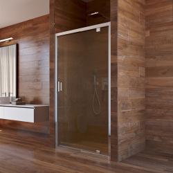 MEREO - Sprchové dveře, Lima, pivotové, 100x190 cm, chrom ALU, sklo Point 6 mm (CK80932K)