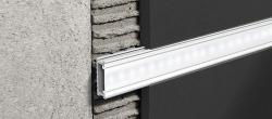 Ostatní - Lišta PROLISTEL Listello profiles stříbrná lesk 2,5 m s matnou krytkou pro LED (PLTLEDBC20/PIAO17)
