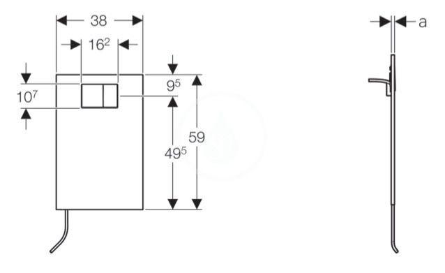 GEBERIT - AquaClean Krycí deska se zabudovaným ovládáním pro bidetová sedátka, sklo/bílá (115.324.SI.1)
