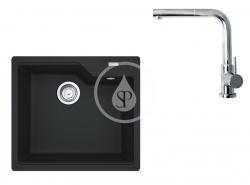 FRANKE - Sety Set G177, fragranitový dřez UBG 610-56 a baterie FN 0147.031, onyx/chrom (114.0619.620)