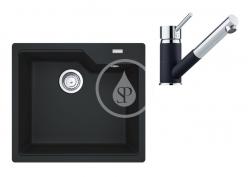 FRANKE - Sety Set G178, fragranitový dřez UBG 610-56 a baterie FG 7486.071, onyx/onyx (114.0619.629)