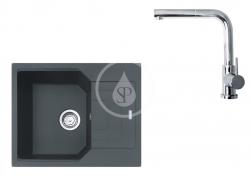 FRANKE - Sety Set G181, fragranitový dřez UBG 611-62 a baterie FN 0147.031, grafit/chrom (114.0619.653)
