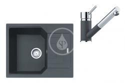 FRANKE - Sety Set G182, fragranitový dřez UBG 611-62 a baterie FG 7486.099, grafit/grafit (114.0619.662)